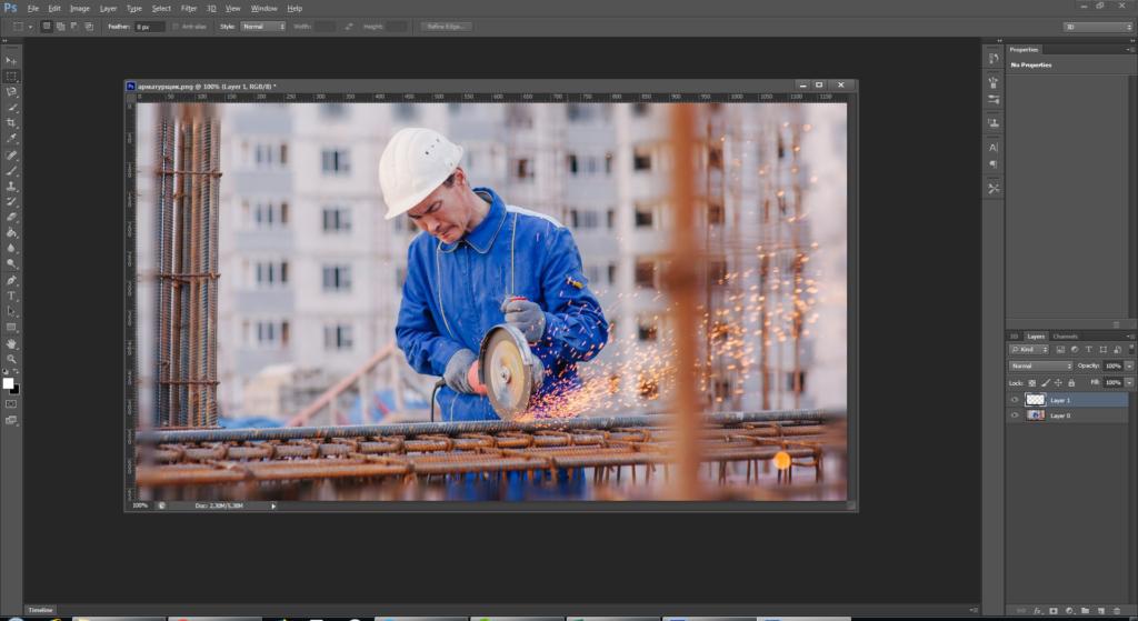 Как сделать размытую рамку фотографии в Photoshop